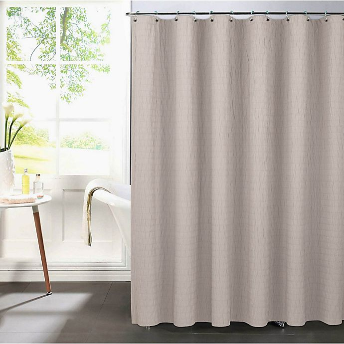 Alternate image 1 for Pereira da Cunha Riverbed Shower Curtain in White