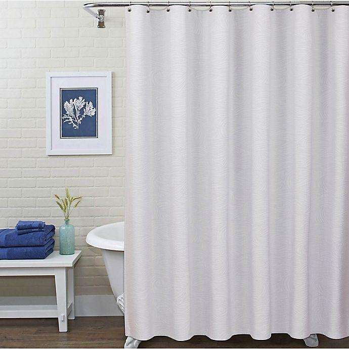 Alternate image 1 for Pereira da Cunha Storm Shower Curtain in White