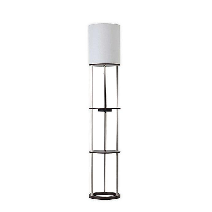 Alternate image 1 for Adesso Qi Shelf Charging Floor Lamp