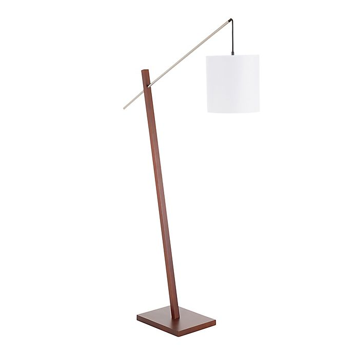 Lumisource Arturo Contemporary Floor Lamp In Walnut Bed Bath Beyond