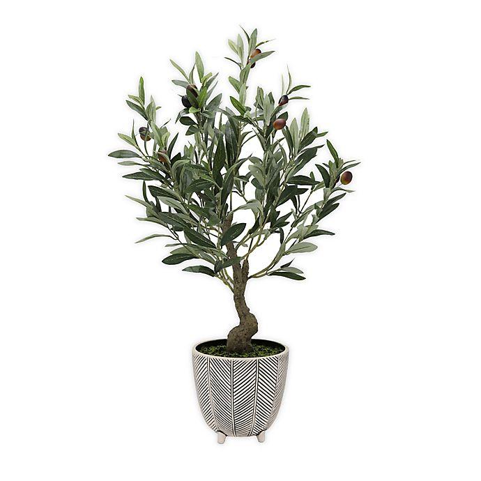 Alternate image 1 for Global Caravan™ 26-Inch Artificial Olive Tree in Ceramic Pot