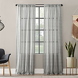 Clean Window® Textured Slub Anti-Dust Curtain Panel