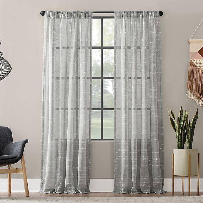 Alternate image 1 for Clean Window® Textured Slub Anti-Dust Curtain Panel