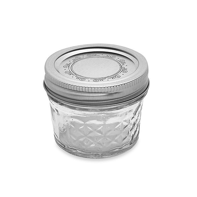 Alternate image 1 for Ball® Crystal Quilted 12-Pack 4 oz. Glass Canning Jars