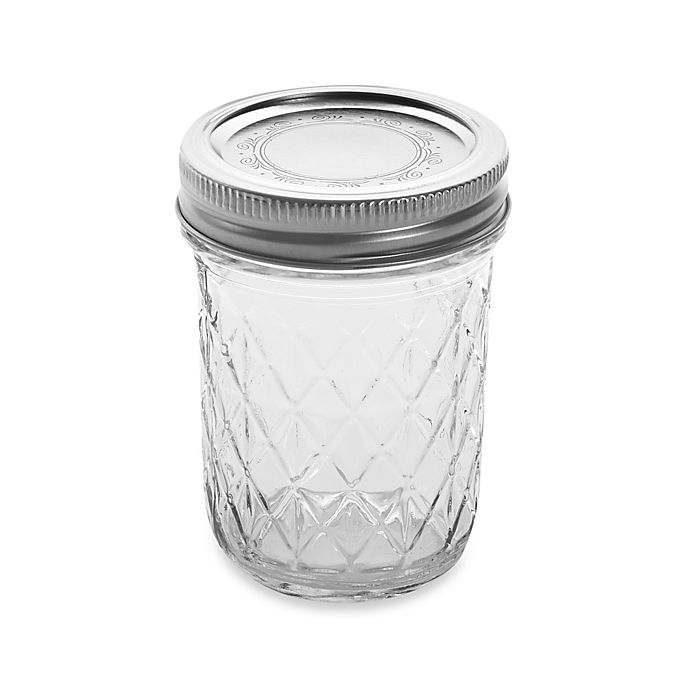 Alternate image 1 for Ball® Crystal Quilted 12-Pack 8 oz. Glass Canning Jars