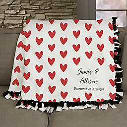 Cupid Love Personalized 50-Inch x 60-Inch Tie Blanket
