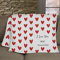 Cupid Love Personalized 50-Inch x 60-Inch Sweatshirt Blanket