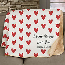 Cupid Love Personalized 60-Inch x 80-Inch Sherpa Blanket