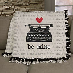 Love Notes Personalized 50-Inch x 60-Inch Tie Blanket