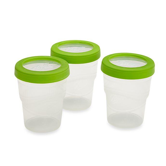 Alternate image 1 for Ball® 3-Pack 8 oz. Plastic Freezer Jars