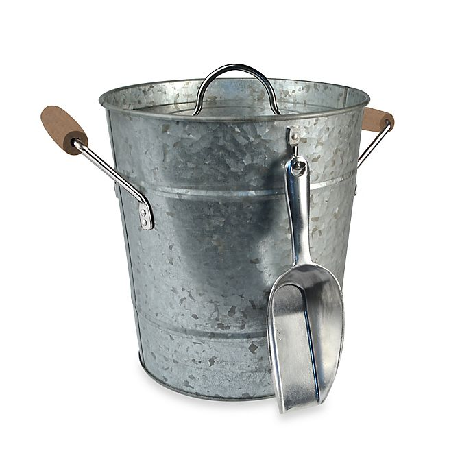 Alternate image 1 for Artland® Oasis Galvanized Steel Ice Bucket with Scoop