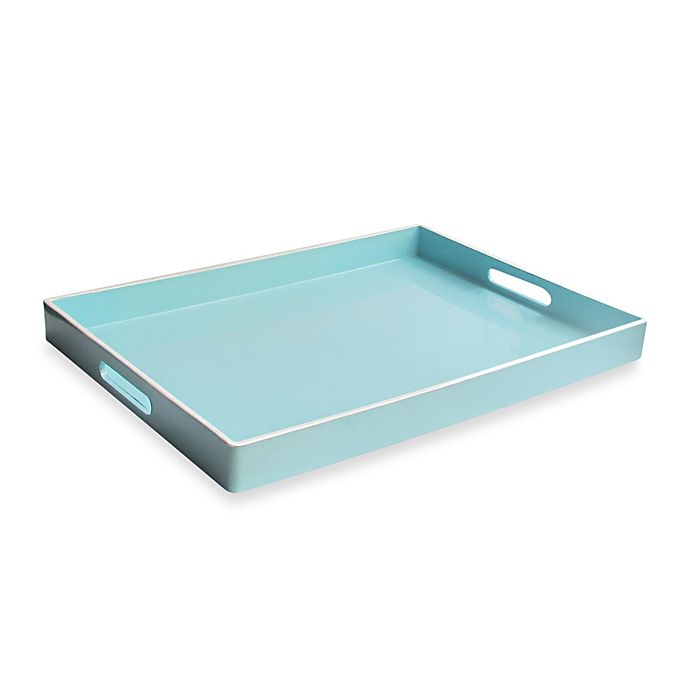 Alternate image 1 for Rectangular Serving Tray in Teal