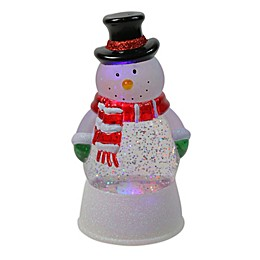 Northlight 11.5-Inch Snowman LED Swirling Glitterdome Figurine