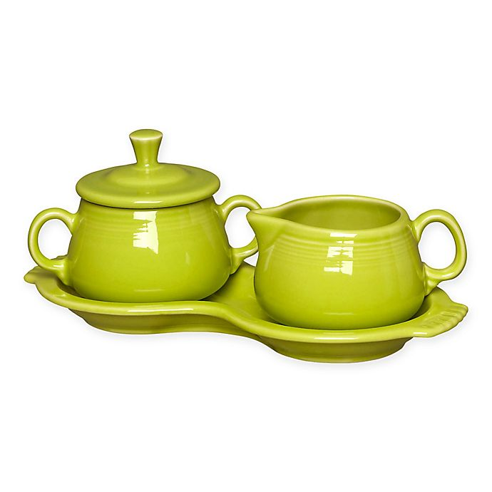Alternate image 1 for Fiesta® Sugar and Creamer Set with Tray in Lemongrass