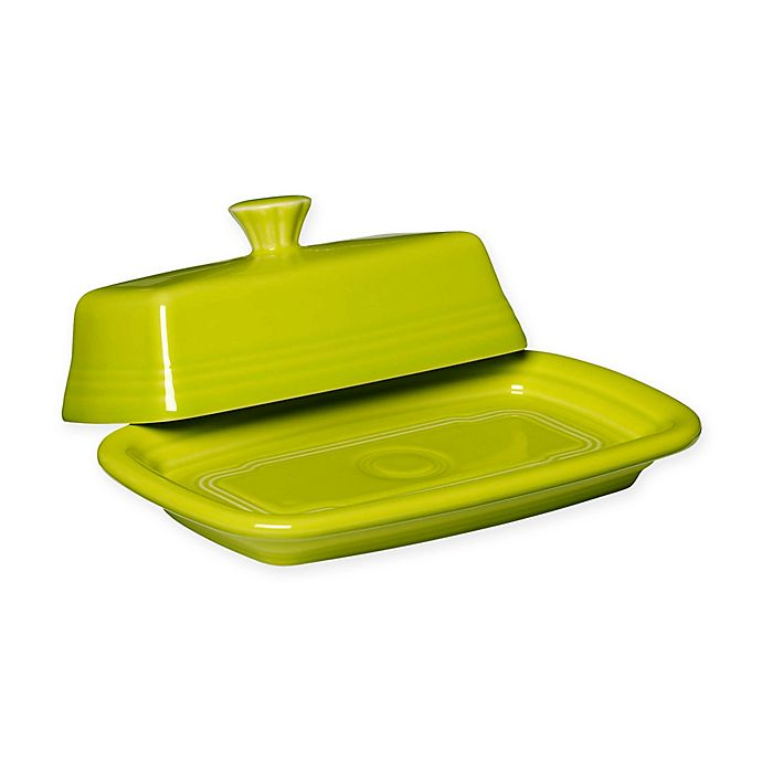 Alternate image 1 for Fiesta® Extra-Large Covered Butter Dish in Lemongrass