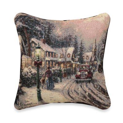 Thomas Kinkade Village Christmas Pillow Bed Bath Amp Beyond