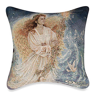 Stardust Angel 17-Inch Square Holiday Tapestry Accent Pillow