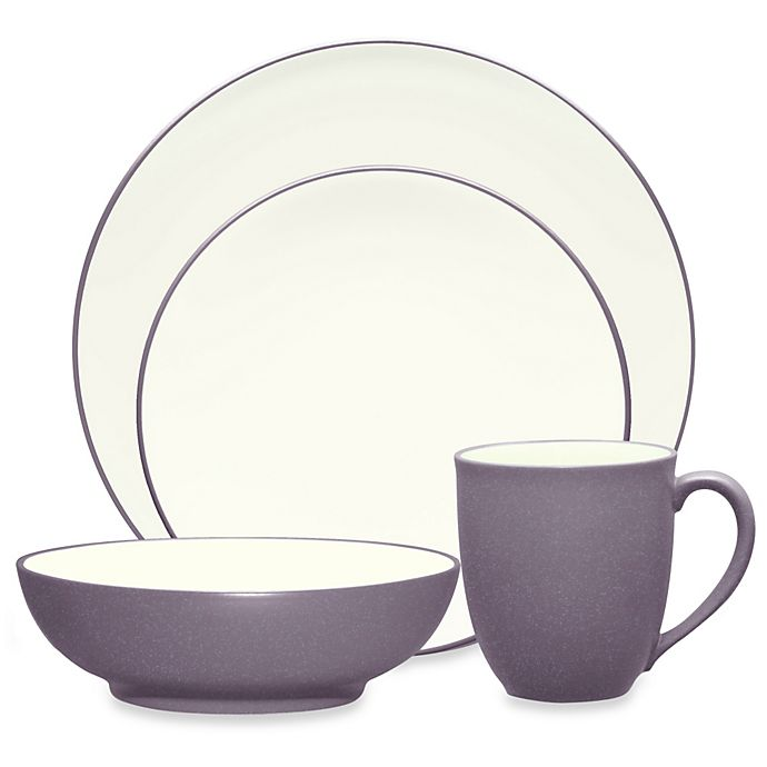 Alternate image 1 for Noritake® Colorwave Coupe 4-Piece Place Setting in Plum
