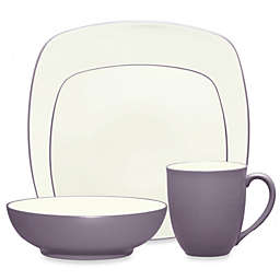 Noritake® Colorwave Square 4-Piece Place Setting in Plum