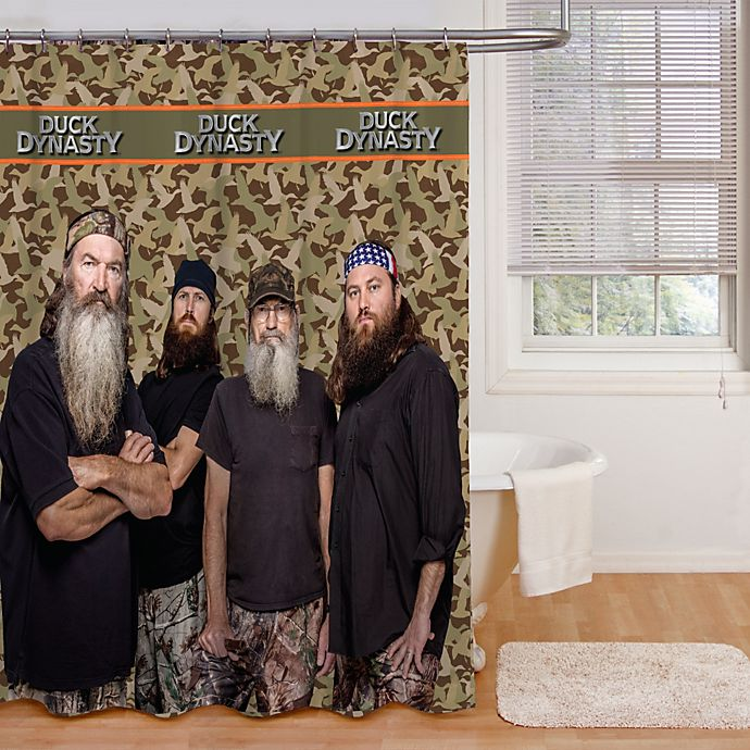 Alternate image 1 for Duck Dynasty® Camo Stripe 72-Inch x 72-Inch Shower Curtain