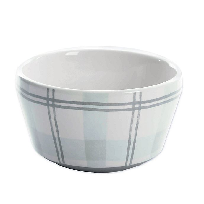 Alternate image 1 for Bee & Willow™ Home Plaid Cereal Bowl in Green