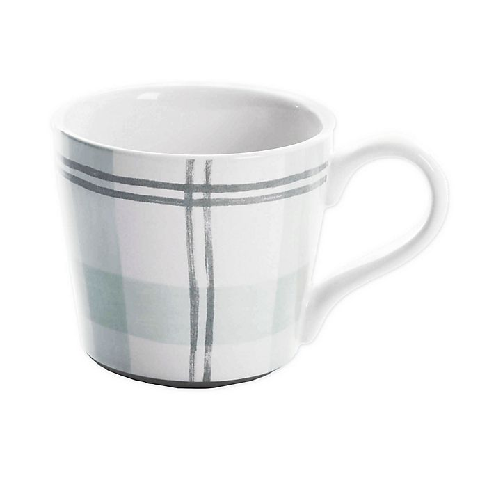 Alternate image 1 for Bee & Willow™ Home Plaid Mug in Green