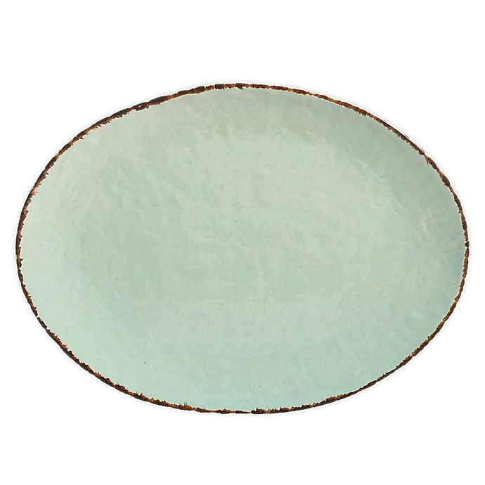 Alternate image 1 for Bee & Willow™ Home 15.7-Inch Oval Platter in Green