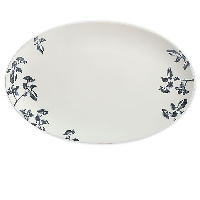 Alternate image 1 for Bee & Willow™ Home Milbrook 18-Inch Oval Platter in Blue Floral