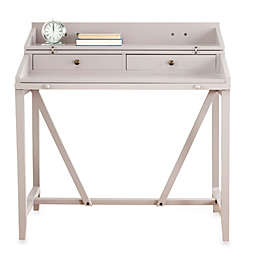 Safavieh American Home Wyatt Pull-Out Writing Desk in Grey