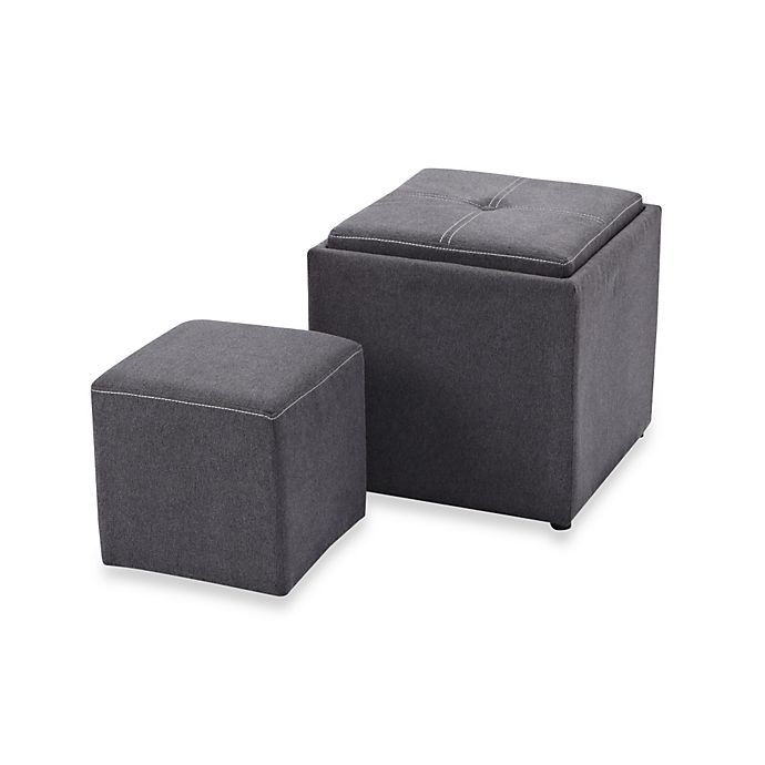 Excellent Emerson Storage Ottoman W Tray Lid Bonus Ottoman Bed Gmtry Best Dining Table And Chair Ideas Images Gmtryco