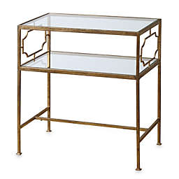 Uttermost Genell Gold-Leaf Iron Glass Side Table