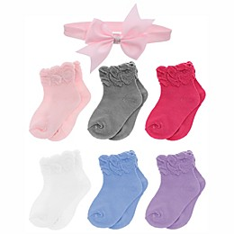 Capelli New York 7-Piece Ruffled Socks and Headband Set