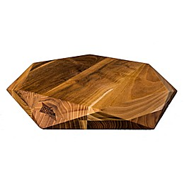 Edge Of Belgravia® Teak Star Hexagonal Slim Wood Cutting Board