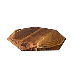 Edge Of Belgravia® Teak Star Hexagonal Wood Cutting Board