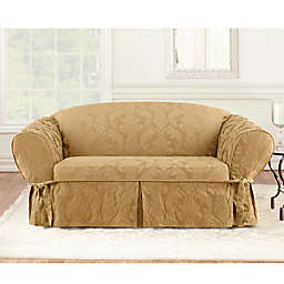 Sure Fit® Damask 1-Piece Loveseat Slipcover