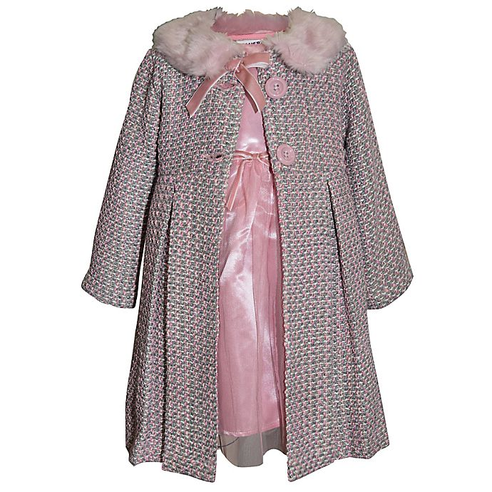 Alternate image 1 for Blueberi Boulevard 2-Piece Dress and Coat Set in Pink