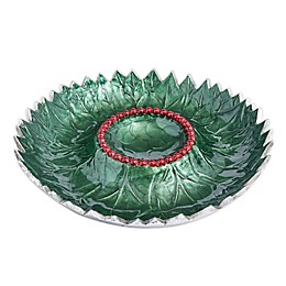 Julia Knight® Holly Sprig Chip and Dip Bowl