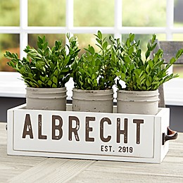 Rustic Name Personalized Wooden Box Centerpiece