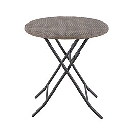 Barrington Folding Wicker Bistro Table in Brown