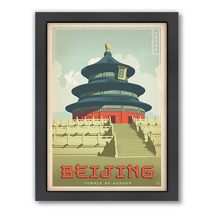Alternate image 1 for Americanflat Beijing Vintage Travel Framed Wall Art