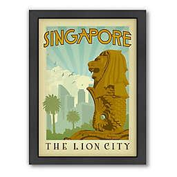 Americanflat Singapore Vintage Travel Framed Wall Art