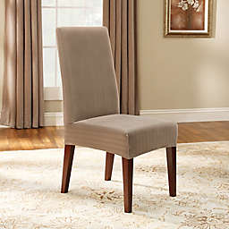 Sure Fit Reg Stretch Pinstripe Short Dining Chair Slipcover
