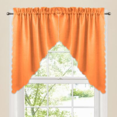 victoria window curtain swag valance pair in orange bed. Black Bedroom Furniture Sets. Home Design Ideas