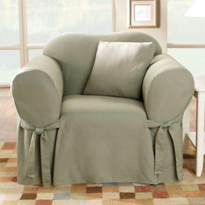 Sure Fit 174 Duck Supreme Cotton Chair Slipcover Bed Bath