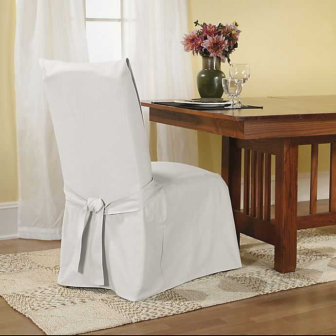 Sure Fit Duck Supreme Cotton Dining Room Chair Slipcover Bed Bath And Beyond Canada