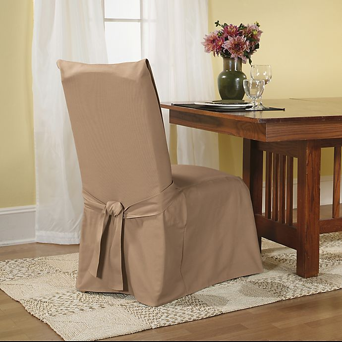 Sure Fit® Duck Supreme Cotton Dining Room Chair Slipcover ...