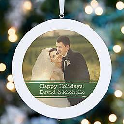 Wedding Photo Personalized LED Light Ornament