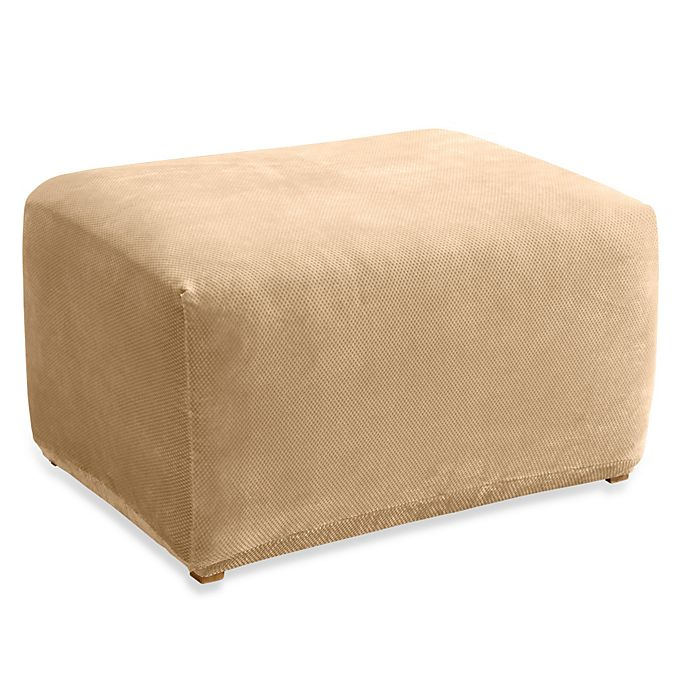 Alternate image 1 for Sure Fit® Stretch Pique Ottoman Slipcover