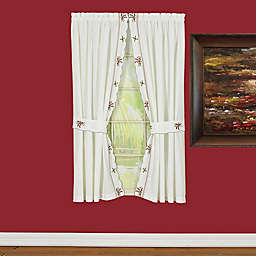 Today's Curtain Holiday Joy 4-Pack 72-Inch Rod Pocket Window Curtain Panels in White