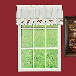 Today's Curtain Holiday Joy Window Valance in White